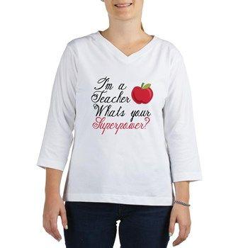 I'm A Teacher Women's Long Sleeve Shirt (Women's Long Sleeve Shirt (3/4 Sleeve)