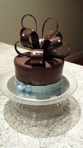 Mud Cake with chocolate coating :)