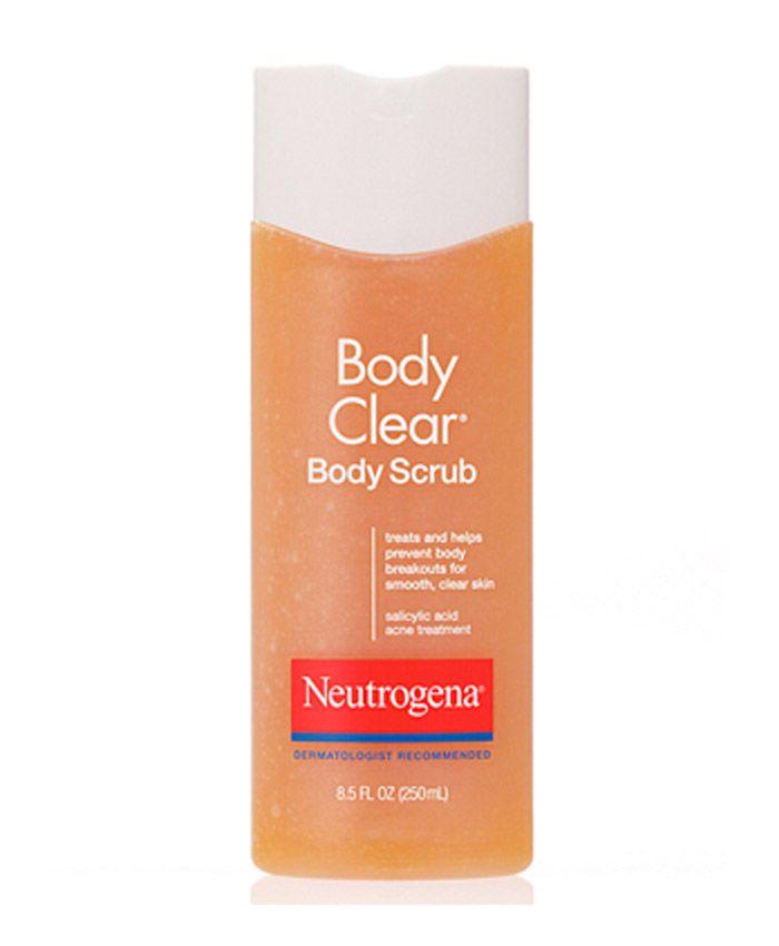 Скраб Neutrogena Body Clear Body Scrub освежает и очищает кожу тела. Входящая в состав скраба салициловая кислота глубоко проникает в поры, удаляя омертвевшие клетки, избавляет от черных точек и разглаживает кожу.