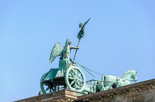 The Brandenburg Gate Quadriga in Berlin, is one of the most famous landmarks and symbolic monument in Germany.