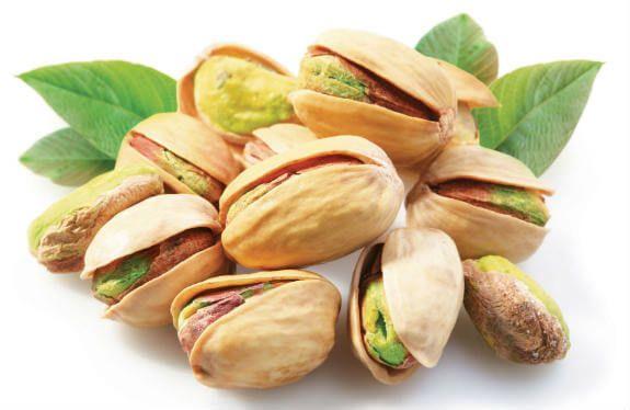 Informação Nutricional do Pistache: Calorias, gorduras totais, saturadas, colesterol, sódio, carboidratos, fibra, açúcar, proteína, zinco, fósforo, cálcio,
