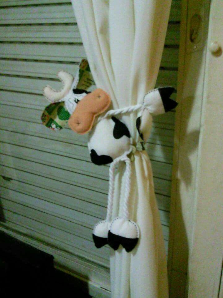 Vaquita para sostener cortinas