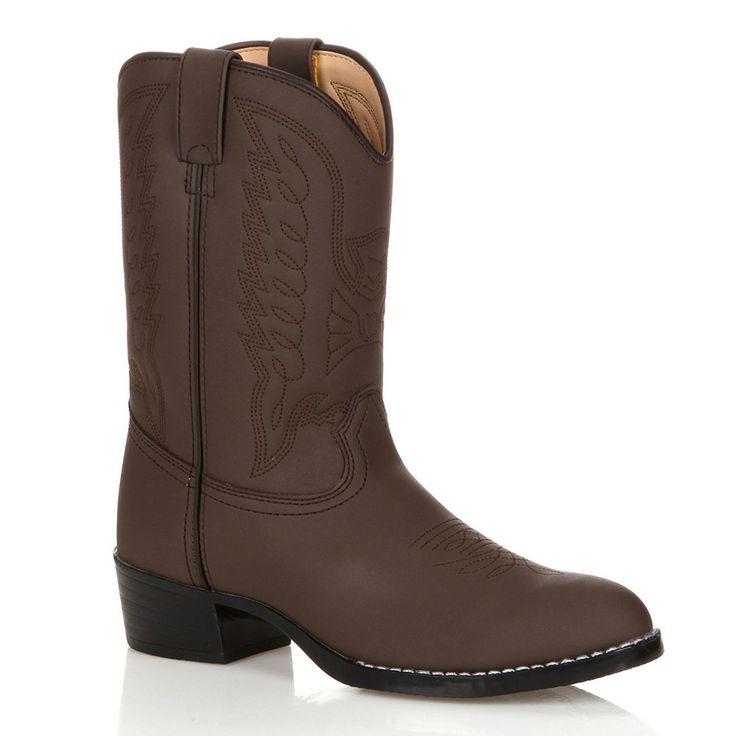 Lil Durango Kids' Cowboy Boots, Kids Unisex, Size: 8.5T, Brown