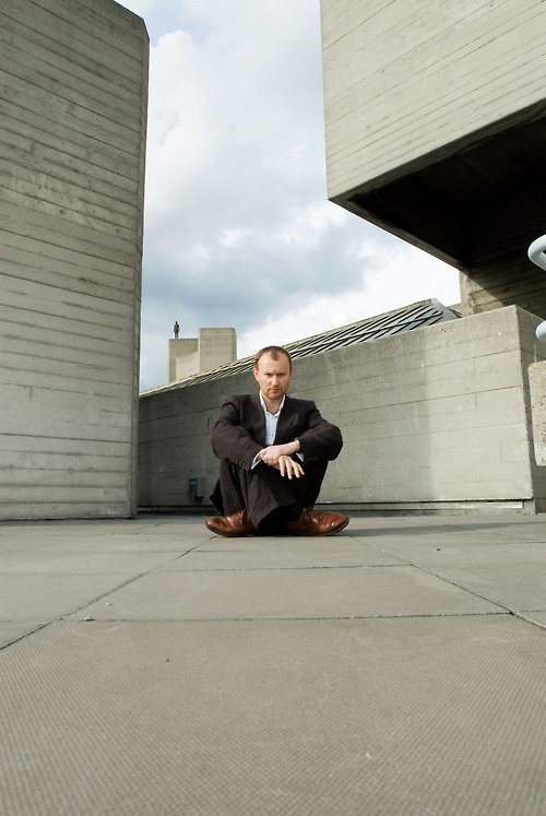 Mark Gatiss enjoying being a lord of awesomeness.