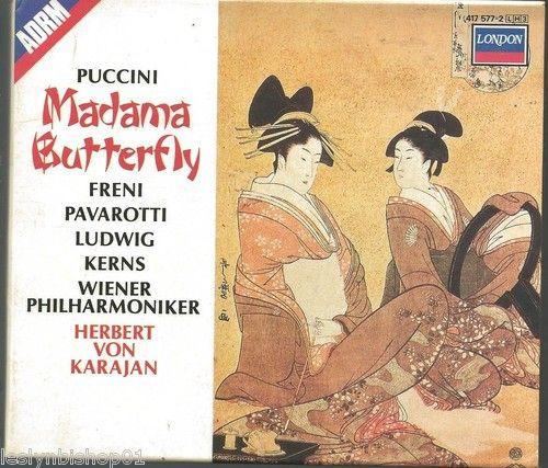 Puccini: Madama Butterfly (CD, Mar-1987, 3 Discs, London)