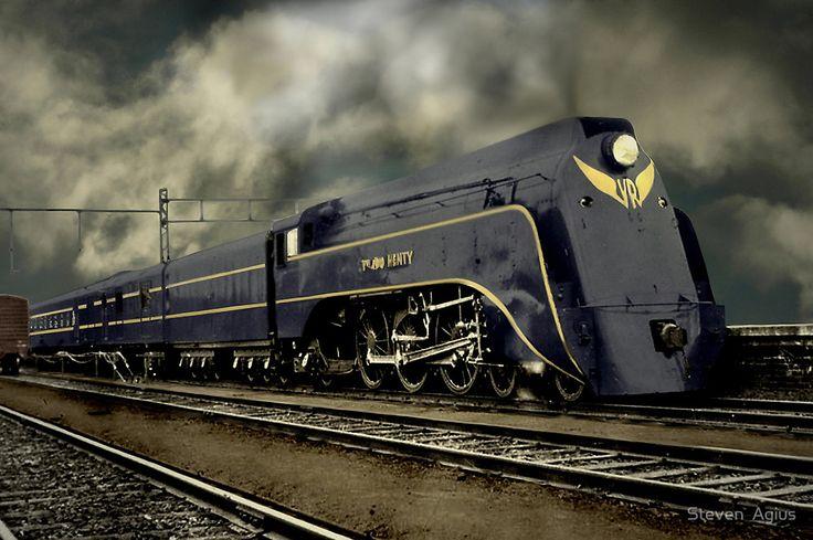 Nostalgic Era by Steven  Agius. 'Sir Edward Henty' S Class Victorian Railways. Used on the Spirit of Progress