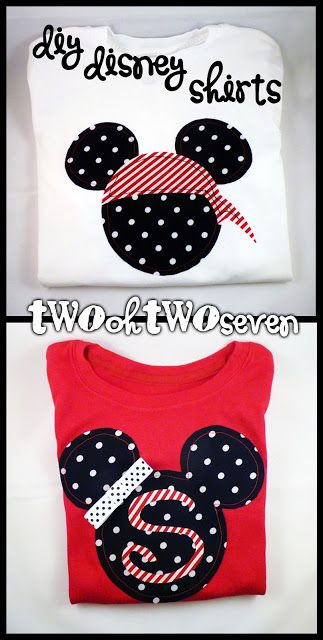 Step-by-step instructions for making your own Disney themed shirts