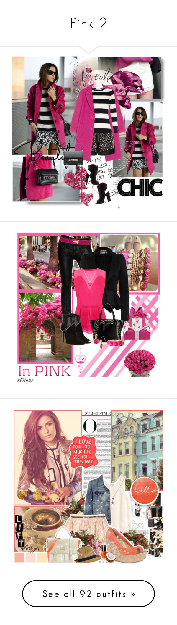 """""""Pink 2"""" by par0dise ❤ liked on Polyvore featuring DKNY, Topshop, Truths, Proenza Schouler, Piaget, Zara, Heidi Swapp, Tom Binns, Diesel Black Gold and Coast"""