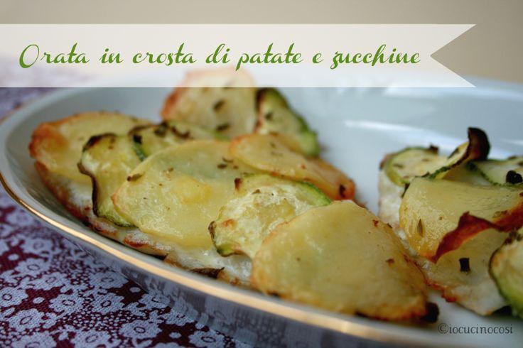 Orata in crosta di patate e zucchine - Ricetta secondo di pesce