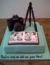 "Tripod and Camera Cake                                                                                                                    <button class=""Button Module borderless hasText vaseButton"" type=""button"">       <span class=""buttonText"">                          More         </span>          </button>"