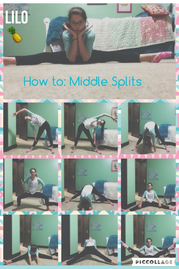 how to: middle splits! again, not everybody can get these perfect,including not-bendy me, & it takes time, but give it all you got! these stretches help you get farther & farther each time you do them! they might hurt, so take it easy. only go as far as you can go & don't hurt yourself. good luck, & remember you are always doing great!!! TOODLES! see you on the next pin! •LILO