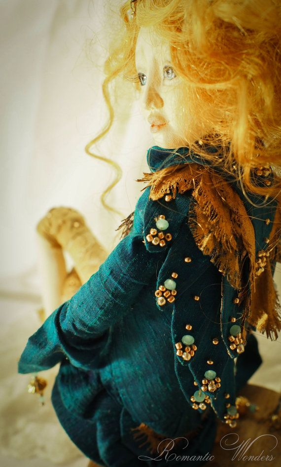 Alkioni. Handmade Art doll. OOAK by Romantic Wonders on Etsy