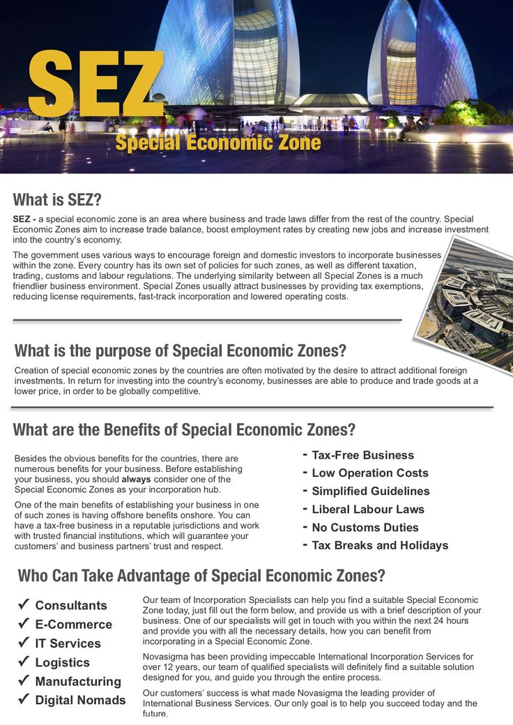 Low and TaxFree Zones Onshore, Best Solutions to