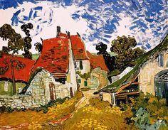 Vincent Van Gogh - Post Impressionism - Auvers - Rue de village - 1890
