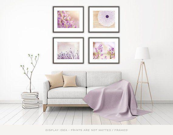 Light Purple Wall Art Set Nature Photography Floral Flower Lavender Pictures Nursery Decor B Art Decor Fl Purple Wall Art Light Purple Walls Purple Walls