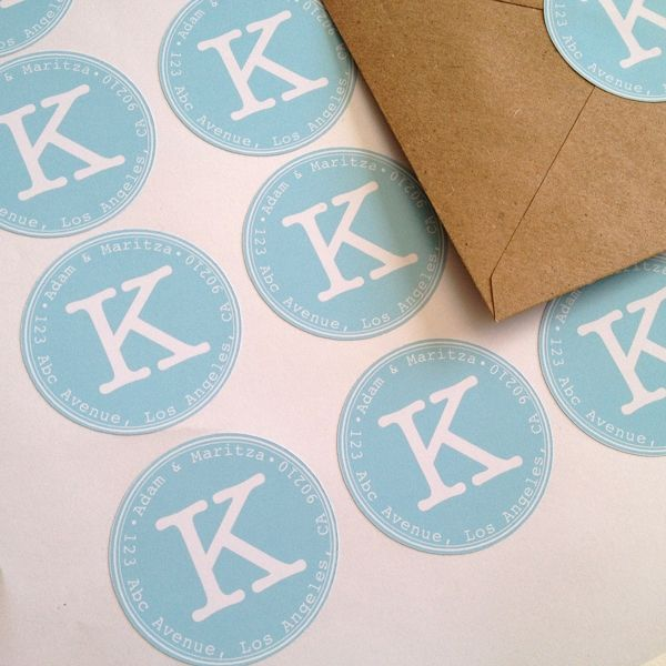 DIY Address Labels with the Silhouette CAMEO {from Maritza Lisa}