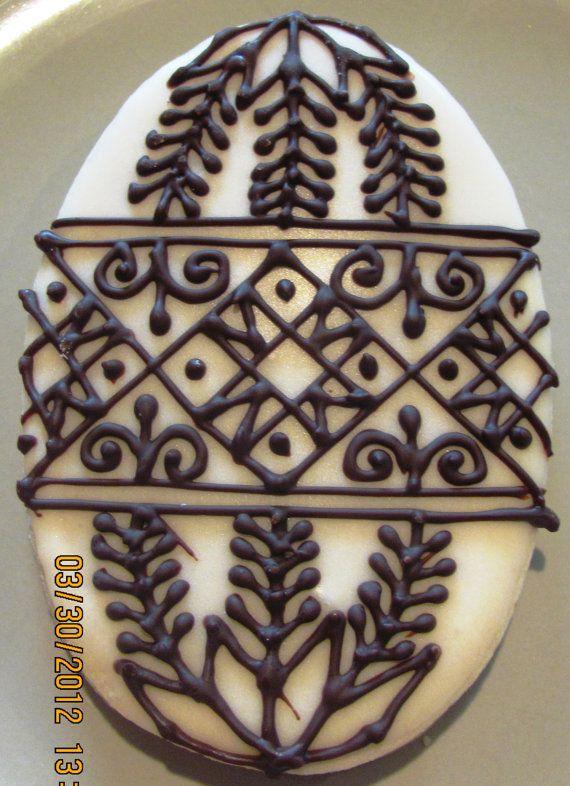 Ukrainian Easter Egg / Pysanka Cookies Large by KrystynasKitschN, $4.00