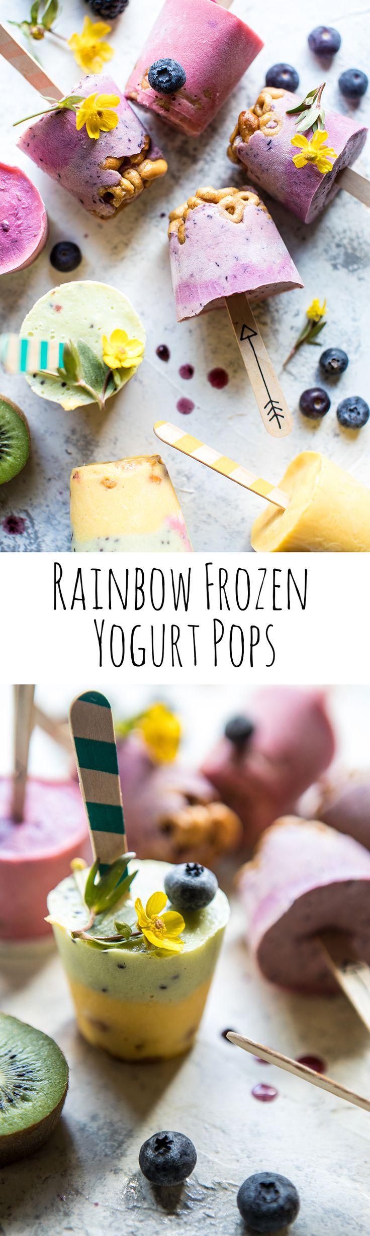 Rainbow Frozen Yogurt Pops   halfbakedharvest.com @hbharvest