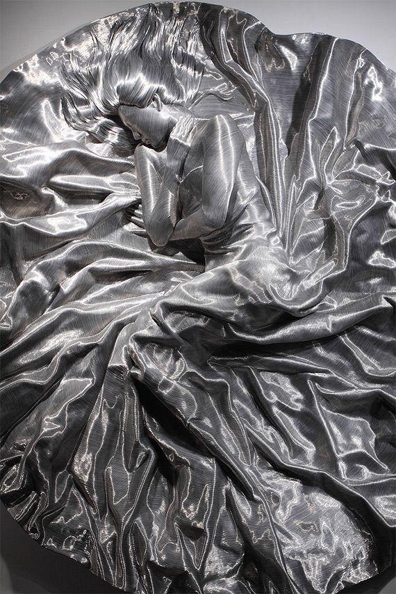 Скульптуры из алюминиевой проволоки Сон Мо Парк (Seung Mo Park)