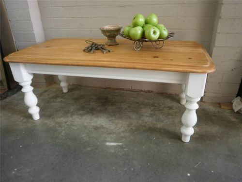 Rustic Vintage French Country Beach House Style Rectangle Coffee Table