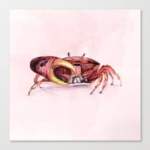 crab www.artoutloop.com #crab, #illustration, #watercolor, #seaworld