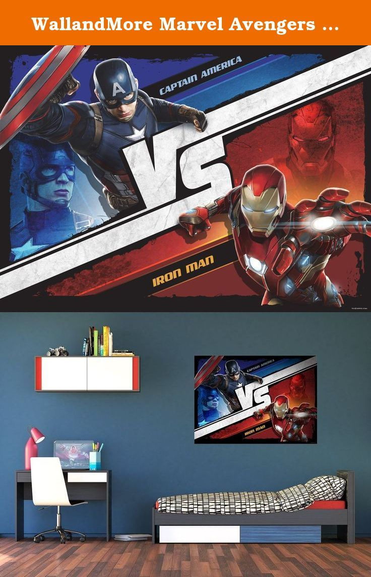 """WallandMore Marvel Avengers Wall Decals Murals For Boy Room Decor 63"""" W by 45"""" H - Superhero Wall Decals - Kids Murals - Bedroom Wall Decals For Boys - Room Decals - Wall Decor. WallandMore Avengers wall decals murals will transform the total look and atmosphere of your kid's room! General information: Made of Eco friendly and Non toxic materials Durable & top quality Special blue back paper Size by Inches: 63"""" W by 45"""" H 100% satisfaction guarantee We believe that with WallandMore's..."""