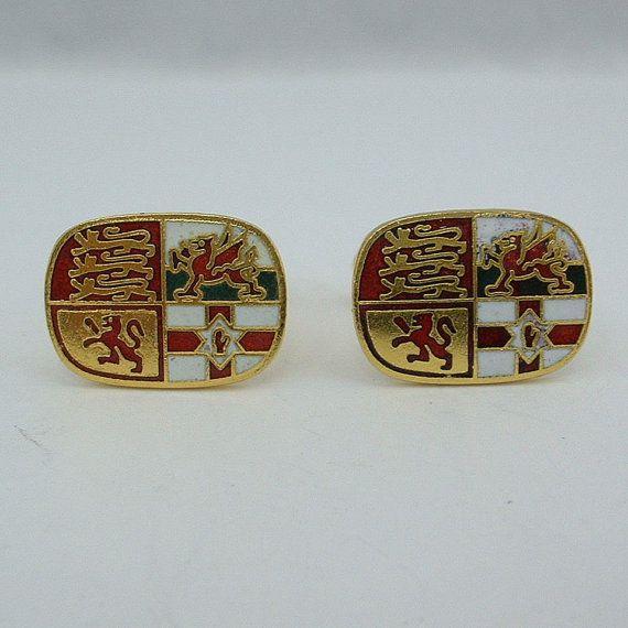 Vintage Gemelli gemelli - britannico Regno Unito Inghilterra stemma di famiglia Armorials on Etsy, 19,42€