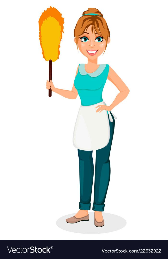 Happy Housewife Cheerful Mother Vector Image On Vectorstock Happy Housewife Vector Images Vector