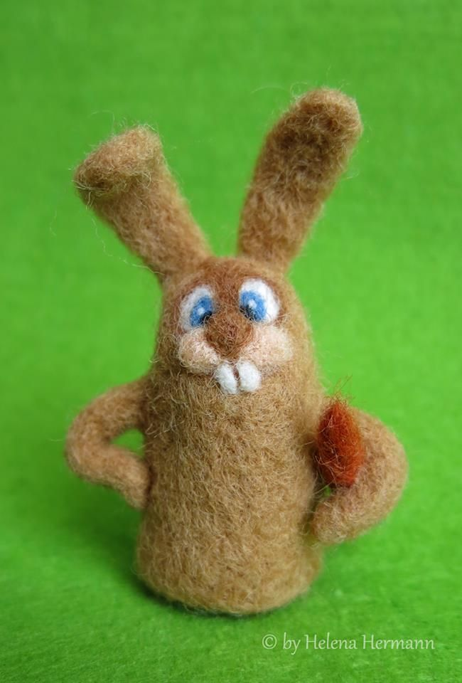 Filzhase by Helena Hermann Needle Felted Bunny