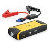 #10: [Ultra Compact] Anker Compact Car Jump Starter and Portable Charger Power Bank with 400A Peak Current Advanced Safety Protection and Built-In LED Flashlight