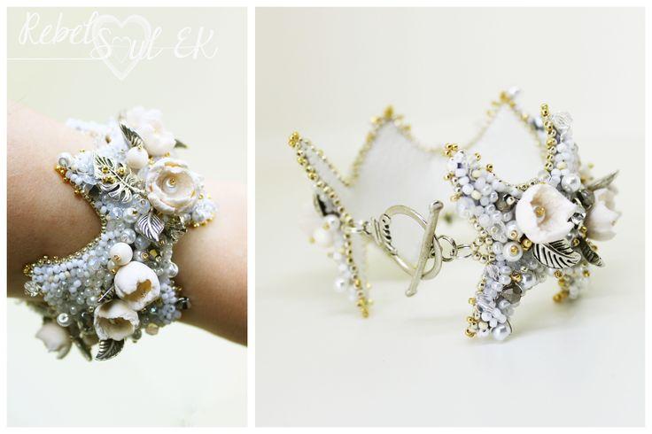 bracelet for bride wedding jewelry by RebelSoulEK