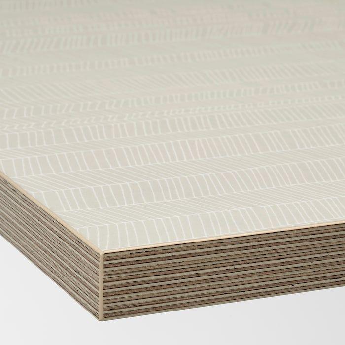 Ekbacken Werkblad Mat Beige Met Een Patroon Laminaat 246x2 8 Cm Ikea In 2020 Laminate Countertops Countertops Laminate Worktop