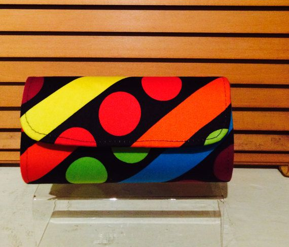 Small multi-coloured clutch bag by WestAfricanDesigns on Etsy