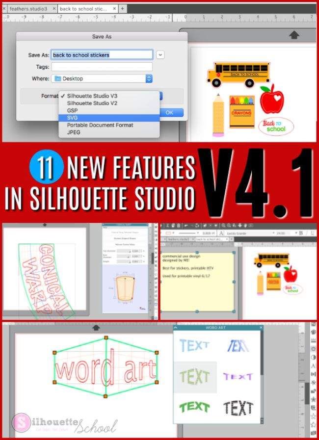 11 New Features in Silhouette Studio V4.1