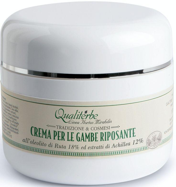 Crema per le gambe riposante alla Ruta 5% Achillea 3% - Qualiterbe Erboristeria Naturopatia -