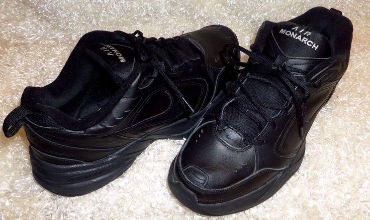Nike Air Monarch IV Men's Training Shoes Black/Black 415445-001 #Nike #RunningCrossTraining