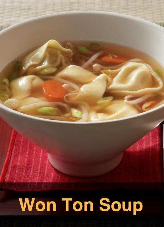 Chicken 'Won Ton' Soup… Want an ethnic meal but don't want to spend money on carry out? Try this speedy and budget conscious Won Ton Soup.
