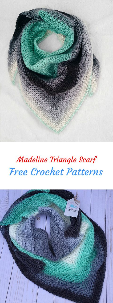 Madeline Triangle Scarf Free Crochet Pattern