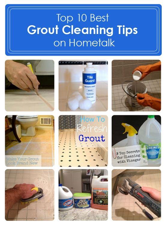 TOP TEN DIY:: BEST CLEANING GROUT TIPS & TUTORIALS