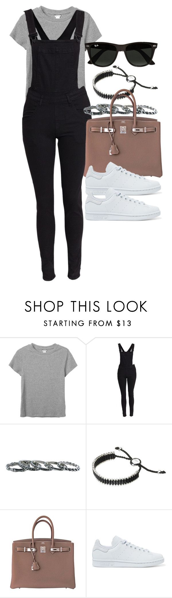 """""""Style #11119"""" by vany-alvarado ❤ liked on Polyvore featuring Monki, Cheap Monday, Southwest Moon, Links of London, Hermès, adidas Originals and Ray-Ban"""
