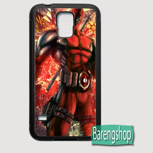 Rubber Case Deadpool Comics Custom Samsung Galaxy S5 Case