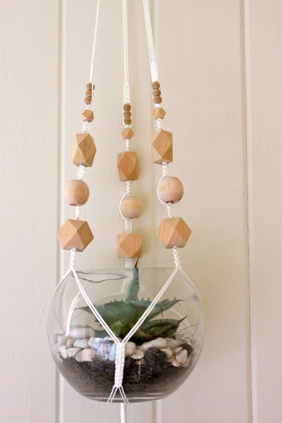 Geometric Macrame Plant Hanger Geometric by SomeWereMeantForSea