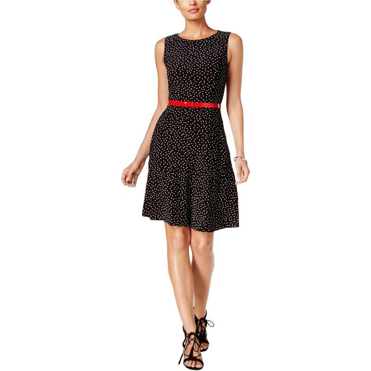Nice Amazing Tommy Hilfiger 1318 Womens Black Sleeveless Fit & Flare Party Dress 8 BHFO  2018