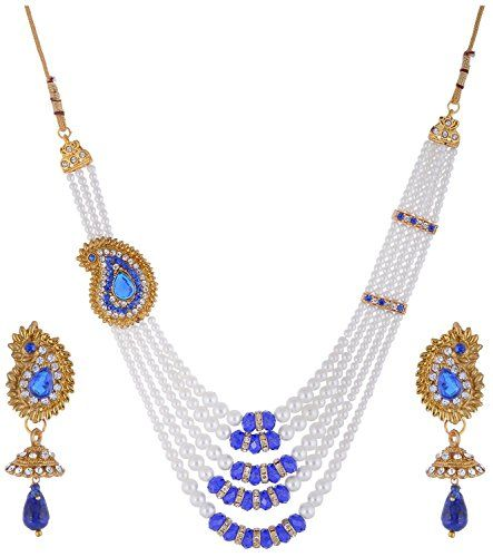 Indian Bollywood Inspired Gold Plated Blue Stone White Pe... https://www.amazon.com/dp/B01N11SXK9/ref=cm_sw_r_pi_dp_x_vyo2yb6WDK69T