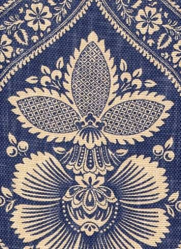 Interesting Indigo Fabric. Vaguely Victorian/aesthetic pattern. $28.95 a yard.