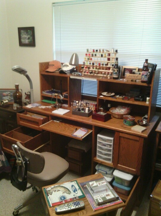 98 Best Fly Tying Furniture Rooms Images On Pinterest