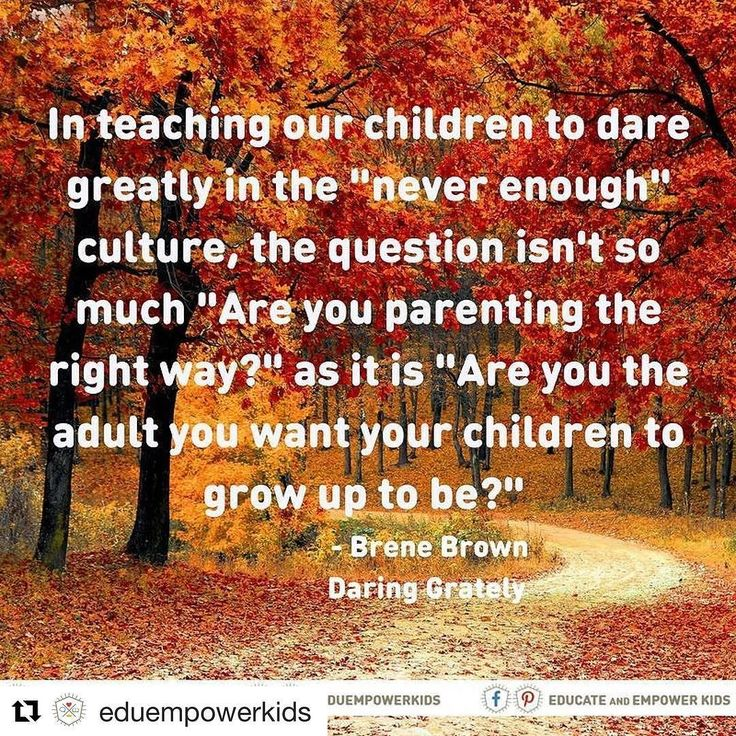 """I love this so much. #wisdom #familyculture #family #parenting #daringgreatly #Repost @eduempowerkids (@get_repost)  """"Who we are and how we engage with the world are much stronger predictors of how our children will do than what we know about parenting."""" - Brene Brown Daring Greatly. Be the example of the person you want your children to become. Start today start right now. One decision one action at a time creates the tapestry of the life we want our children to experience. Find help by…"""