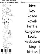 Pictures of things that start with k match k words match 10 words pictures of things that start with k match k words match 10 words that start with k the words are kite key preschool activities pinterest kites altavistaventures Image collections
