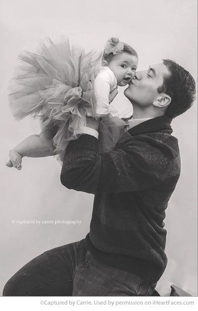 Dad & Me: Photo Ideas for Fathers Day - Portrait by Captured by Carrie Photography via iHeartFaces.com