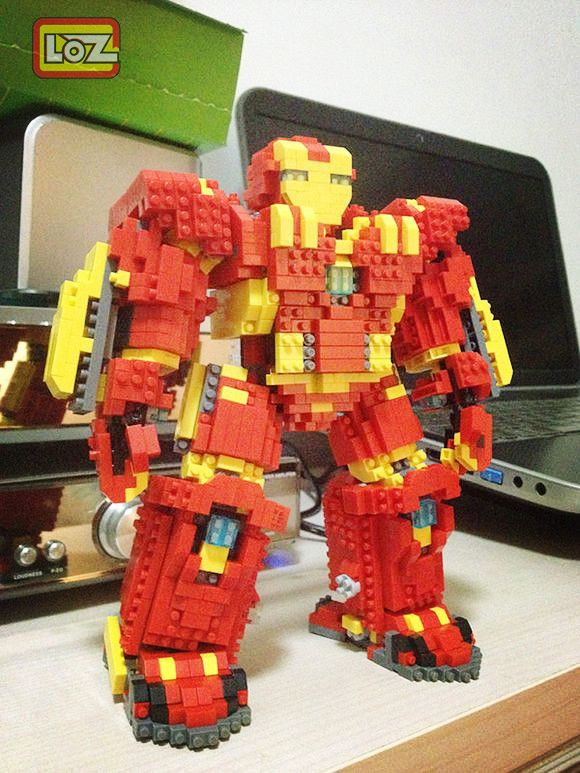 Avengers: Age of Ultron Hulkbuster Iron Man Mark 44 !!!Amaing works of loz block!Do you like it? https://www.facebook.com/lozgroup